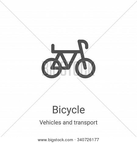 bicycle icon isolated on white background from vehicles and transport collection. bicycle icon trend
