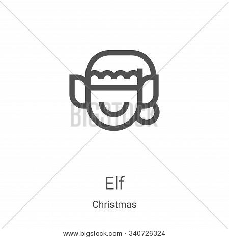 elf icon isolated on white background from christmas collection. elf icon trendy and modern elf symb