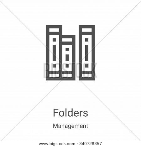 folders icon isolated on white background from management collection. folders icon trendy and modern