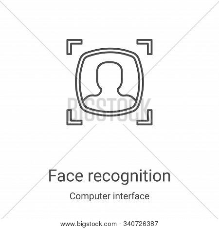 face recognition icon isolated on white background from computer interface collection. face recognit