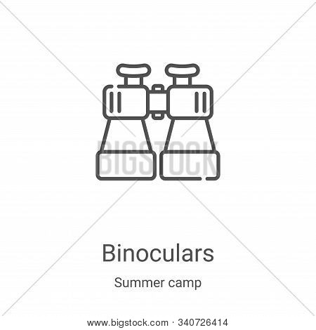 binoculars icon isolated on white background from summer camp collection. binoculars icon trendy and