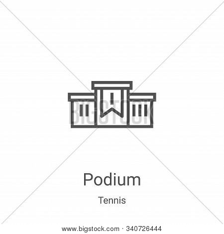 podium icon isolated on white background from tennis collection. podium icon trendy and modern podiu