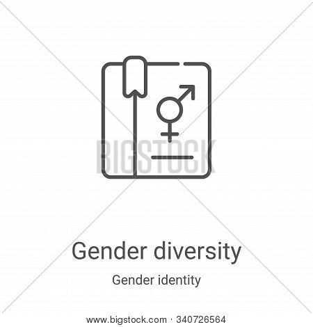 gender diversity icon isolated on white background from gender identity collection. gender diversity