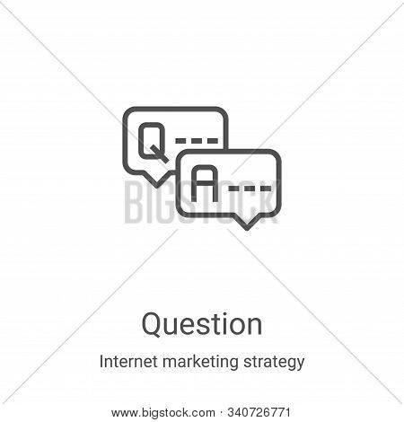 question icon isolated on white background from internet marketing strategy collection. question ico