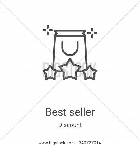 best seller icon isolated on white background from discount collection. best seller icon trendy and
