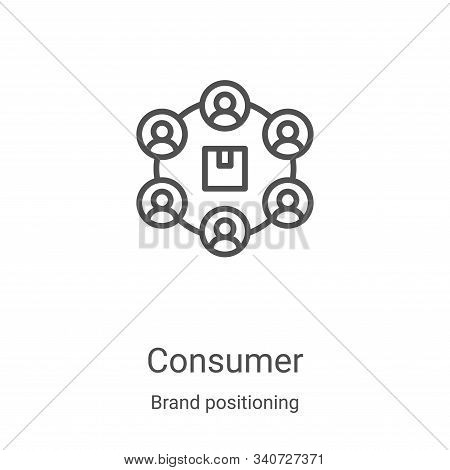 consumer icon isolated on white background from brand positioning collection. consumer icon trendy a