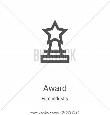 award icon isolated on white background from film industry collection. award icon trendy and modern