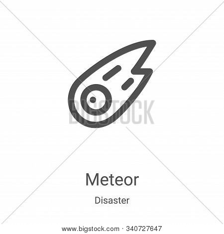 meteor icon isolated on white background from disaster collection. meteor icon trendy and modern met