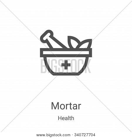 mortar icon isolated on white background from health collection. mortar icon trendy and modern morta