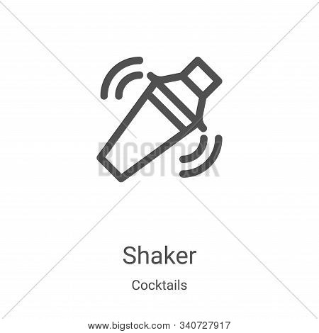 shaker icon isolated on white background from cocktails collection. shaker icon trendy and modern sh