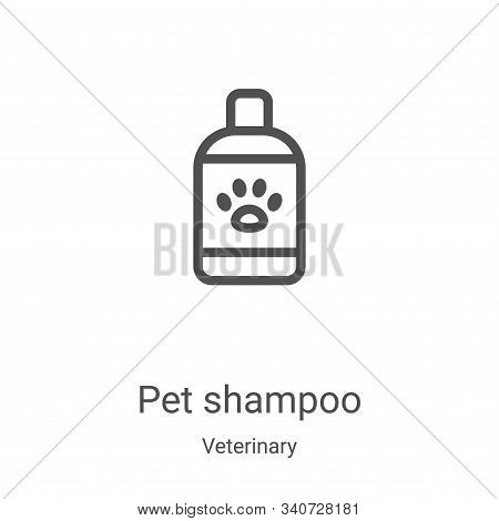 pet shampoo icon isolated on white background from veterinary collection. pet shampoo icon trendy an