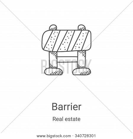 barrier icon isolated on white background from real estate collection. barrier icon trendy and moder