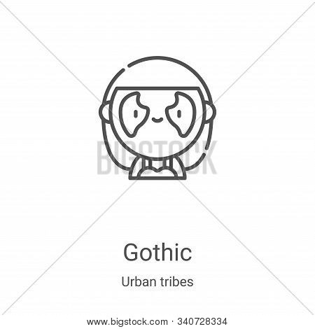 gothic icon isolated on white background from urban tribes collection. gothic icon trendy and modern