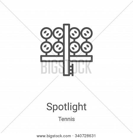 spotlight icon isolated on white background from tennis collection. spotlight icon trendy and modern