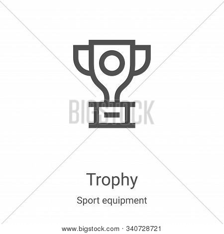 trophy icon isolated on white background from sport equipment collection. trophy icon trendy and mod