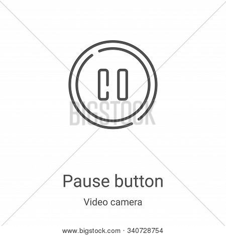 pause button icon isolated on white background from video camera collection. pause button icon trend
