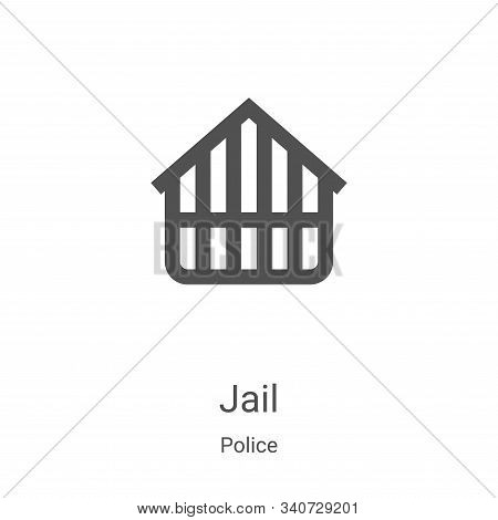 jail icon isolated on white background from police collection. jail icon trendy and modern jail symb