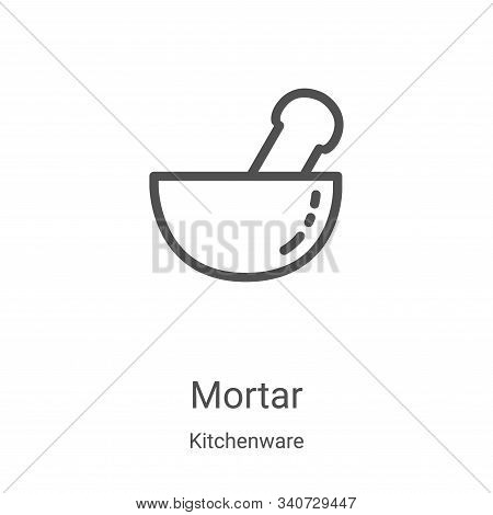 mortar icon isolated on white background from kitchenware collection. mortar icon trendy and modern