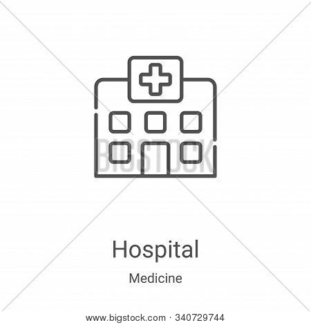 hospital icon isolated on white background from medicine collection. hospital icon trendy and modern