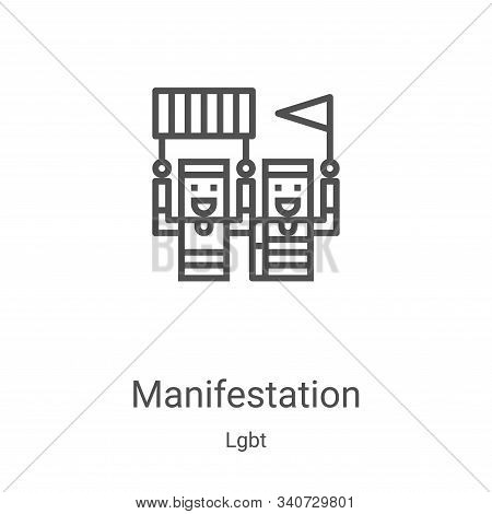 manifestation icon isolated on white background from lgbt collection. manifestation icon trendy and