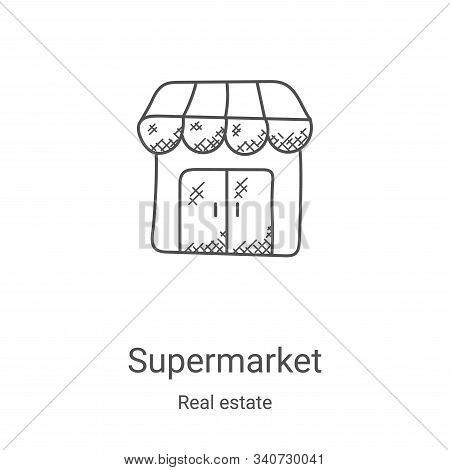 supermarket icon isolated on white background from real estate collection. supermarket icon trendy a