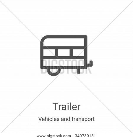trailer icon isolated on white background from vehicles and transport collection. trailer icon trend