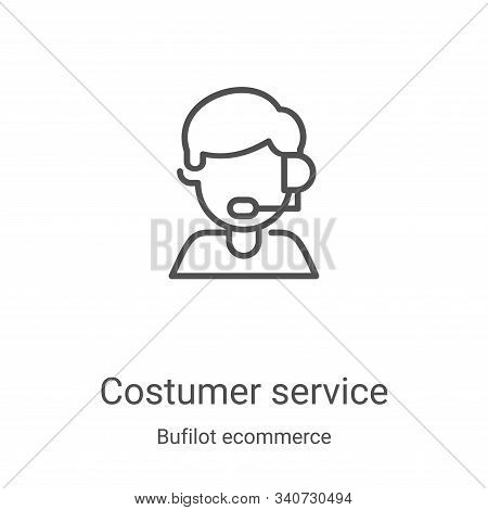 costumer service icon isolated on white background from bufilot ecommerce collection. costumer servi