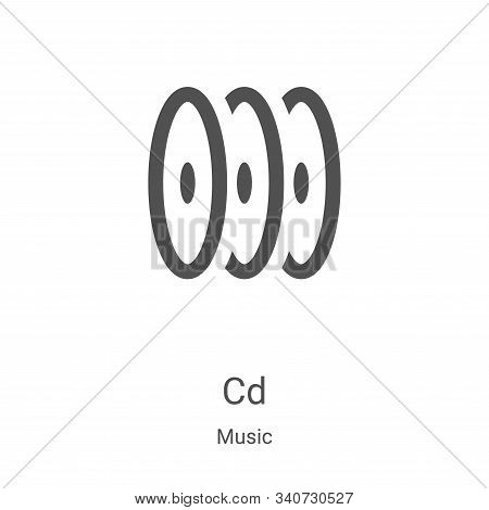 cd icon isolated on white background from music collection. cd icon trendy and modern cd symbol for