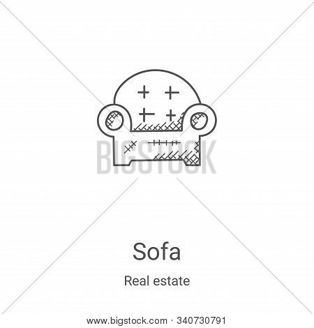 sofa icon isolated on white background from real estate collection. sofa icon trendy and modern sofa