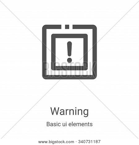 warning icon isolated on white background from basic ui elements collection. warning icon trendy and