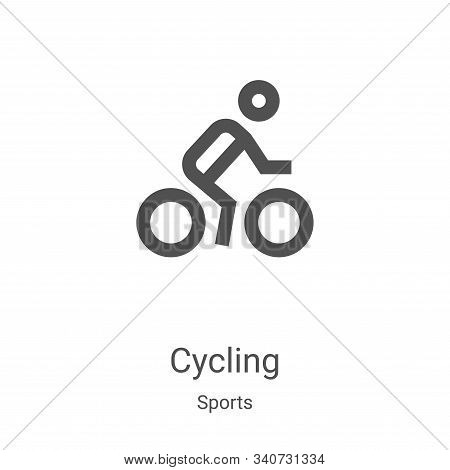 cycling icon isolated on white background from sports collection. cycling icon trendy and modern cyc