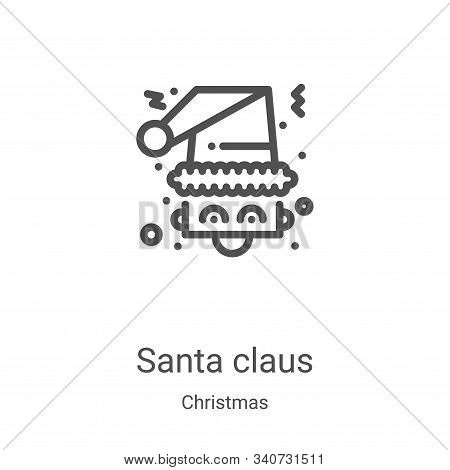 santa claus icon isolated on white background from christmas collection. santa claus icon trendy and