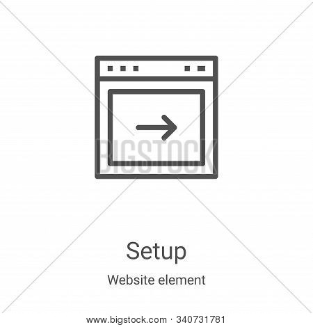 setup icon isolated on white background from website element collection. setup icon trendy and moder