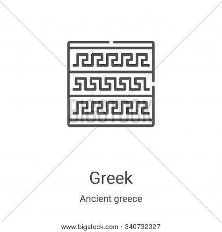 greek icon isolated on white background from ancient greece collection. greek icon trendy and modern