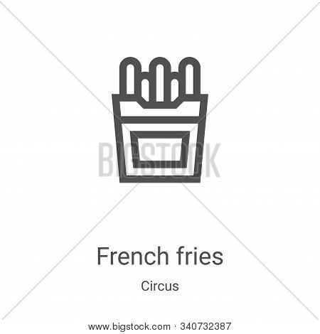 french fries icon isolated on white background from circus collection. french fries icon trendy and