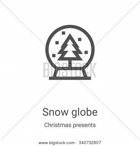 snow globe icon isolated on white background from christmas presents collection. snow globe icon tre