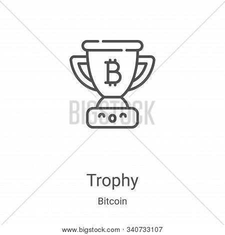 trophy icon isolated on white background from bitcoin collection. trophy icon trendy and modern trop