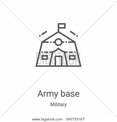 army base icon isolated on white background from military collection. army base icon trendy and mode