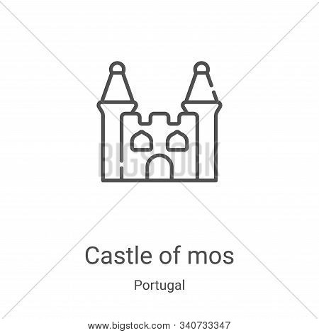 castle of mos icon isolated on white background from portugal collection. castle of mos icon trendy