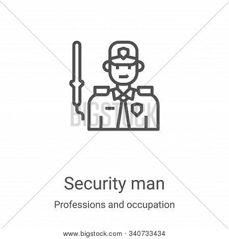 security man icon isolated on white background from professions and occupation collection. security