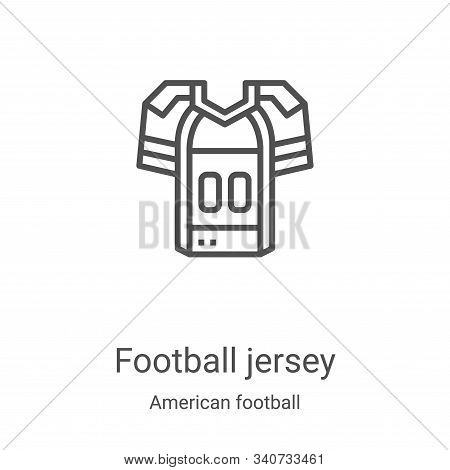 football jersey icon isolated on white background from american football collection. football jersey