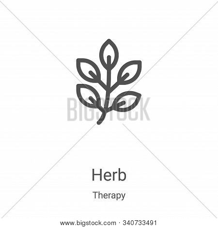herb icon isolated on white background from therapy collection. herb icon trendy and modern herb sym