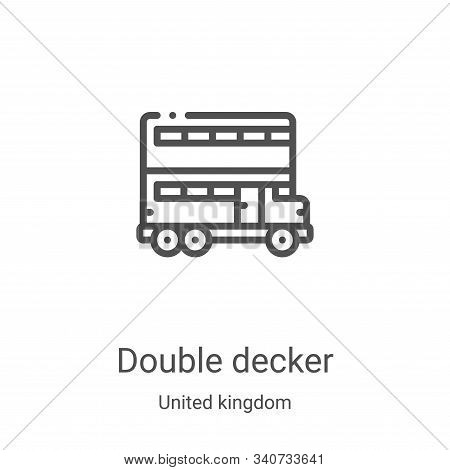 double decker icon isolated on white background from united kingdom collection. double decker icon t