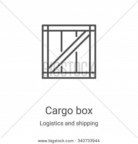 cargo box icon isolated on white background from logistics and shipping collection. cargo box icon t
