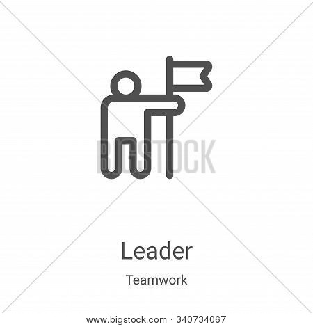 leader icon isolated on white background from teamwork collection. leader icon trendy and modern lea