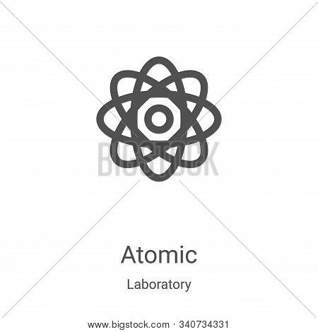 atomic icon isolated on white background from laboratory collection. atomic icon trendy and modern a