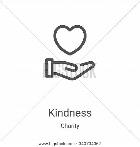 kindness icon isolated on white background from charity collection. kindness icon trendy and modern