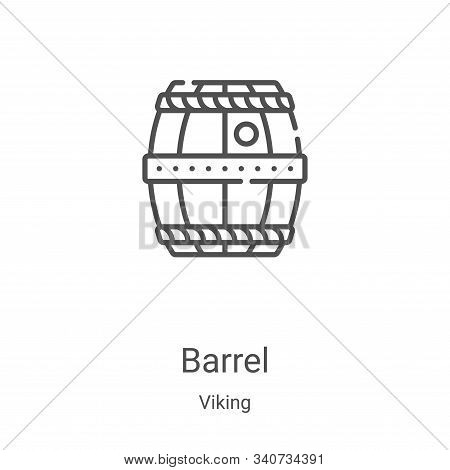 barrel icon isolated on white background from viking collection. barrel icon trendy and modern barre