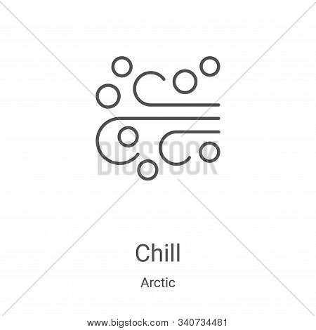chill icon isolated on white background from arctic collection. chill icon trendy and modern chill s