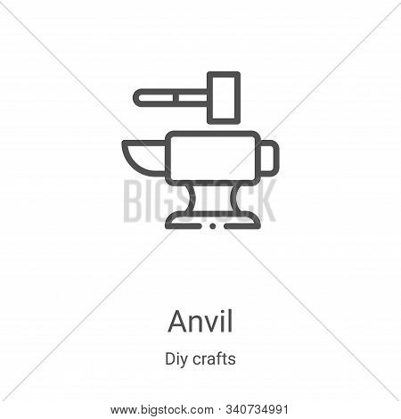 anvil icon isolated on white background from diy crafts collection. anvil icon trendy and modern anv